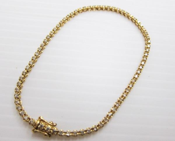 k18金 ダイヤモンド2ct テニスブレスレット 買取 大阪神戸