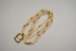 カメオ パール ダイヤモンド デザイン ネックレス 買取 大阪 神戸
