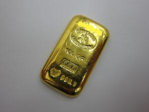 スイスバンクインゴット100g999.9 k24金地金の買取価格7,000円