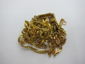 k18金 ネックレス ブレスレット リング 57.7g 買取