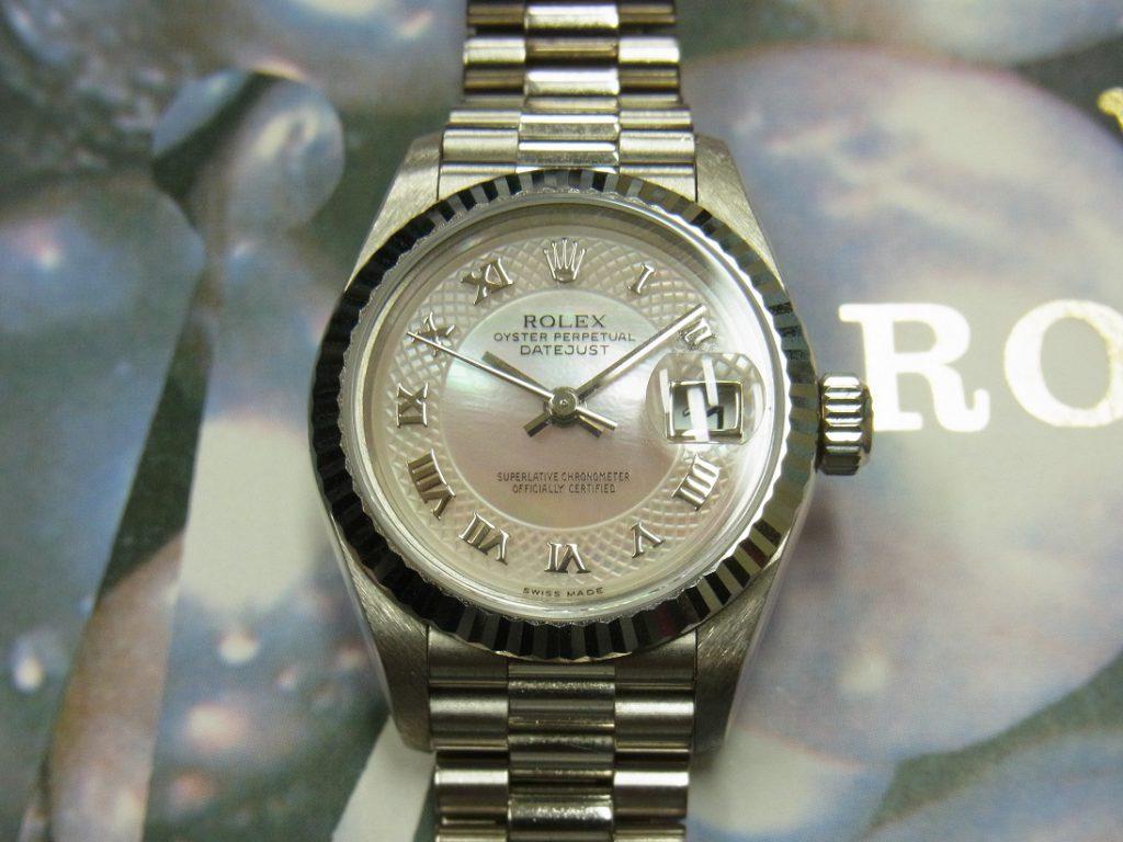 ロレックス 買取 デイトジャスト 79179NRD ピンクシェル 99年製