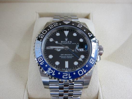 ロレックス 買取 126710BLNR GMTマスター2 青黒 ジュビリー