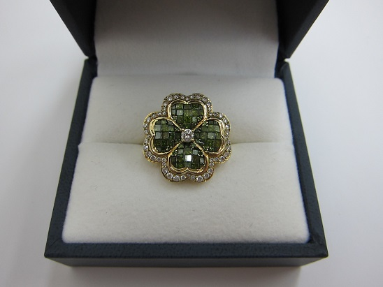 ノンブランドジュエリー 高価買取 K18 ペリドット ダイヤ 宝石 査定