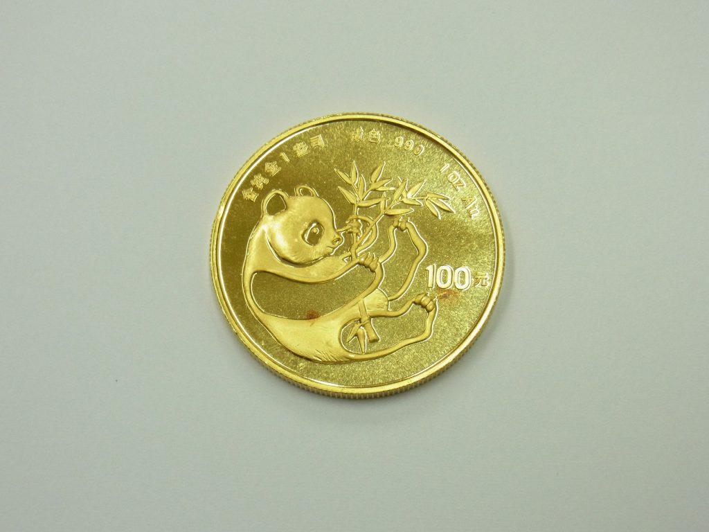 パンダコイン1オンス 31.1g 純金999.9 金貨 買取 大阪神戸