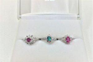 ルビー エメラルド ダイヤモンド リング 買取 大阪 神戸