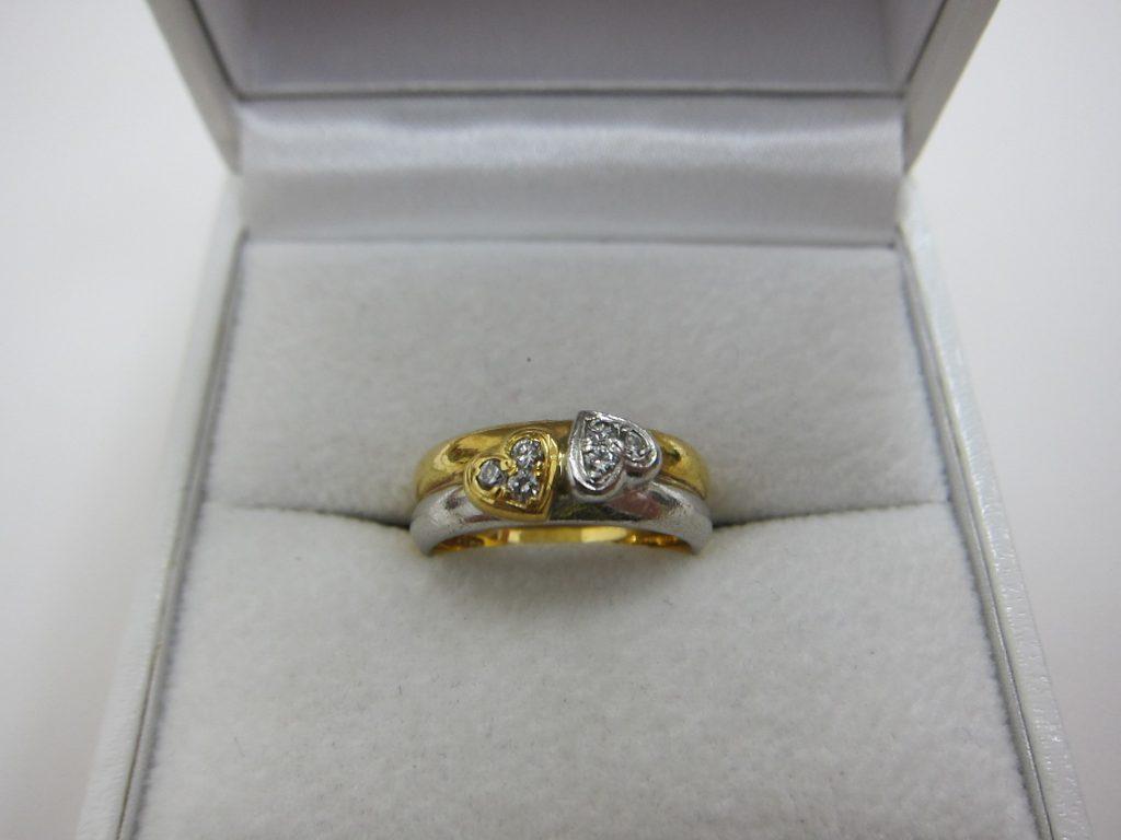 k18pt900 コンビファッションダイヤモンドリング 買取 大阪神戸