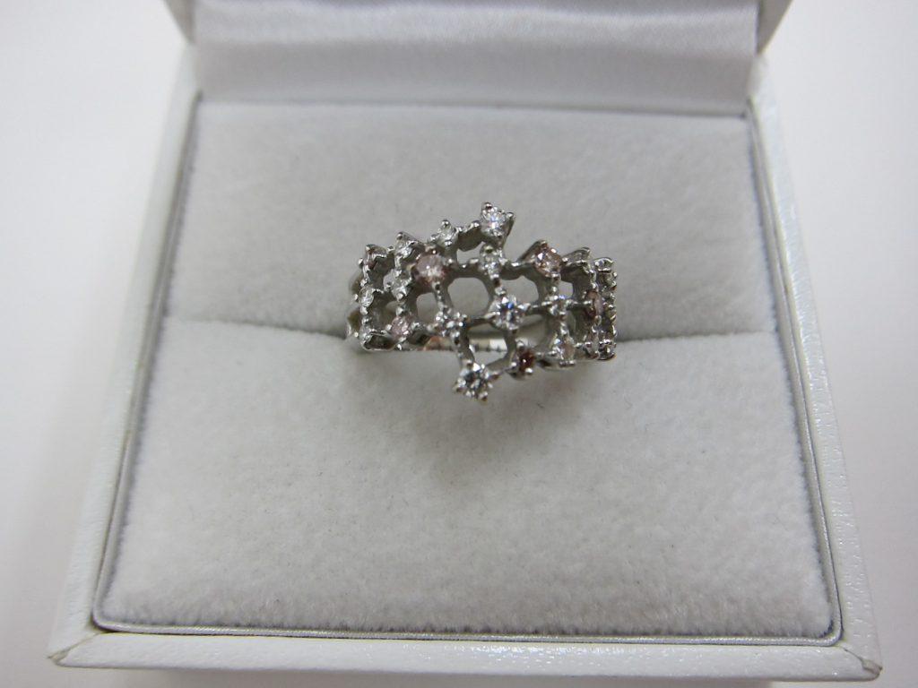 TASAKI k18WG ダイヤモンド ファッションリング 買取 大阪神戸