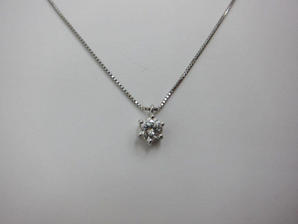 一粒ダイヤモンドネックレス ダイヤモンドジュエリー 買取 大阪神戸