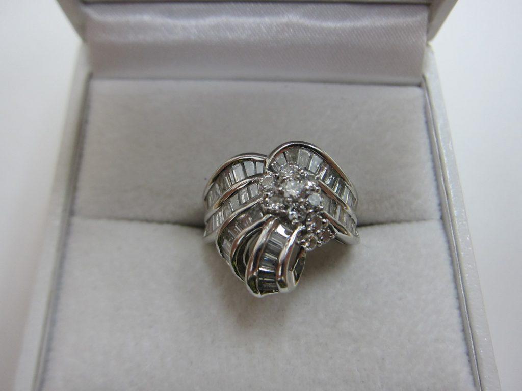 デザインが古いプラチナダイヤモンドリング 買取大阪神戸