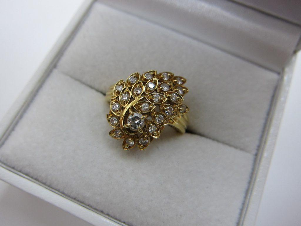k18金ダイヤモンドリング ダイヤモンドジュエリー 買取 大阪神戸
