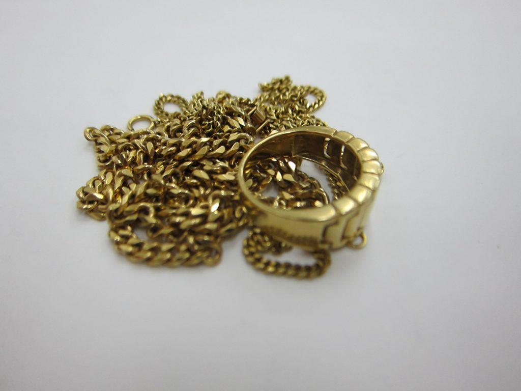 喜平デザイン ネックレス 指輪 k18 金 48.55g 買取 大阪神戸