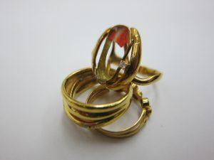 宝石が割れた リング 指輪 k18金 プラチナ 買取 大阪神戸