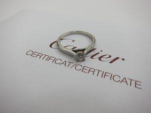 カルティエ 買取 ソリテール1895 ダイヤリング 婚約指輪 0.25ct