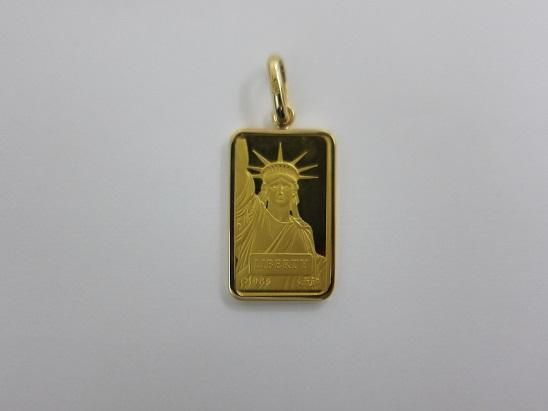 金 買取 リバティコイン インゴット 自由の女神 K24 K18 金価格