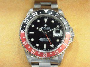 ロレックス 買取 16710 赤黒 コークベゼル 旧型GMTマスターⅡ