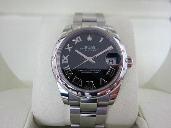 ロレックス 買取 デイトジャスト 24Pダイヤベゼル 178344 黒