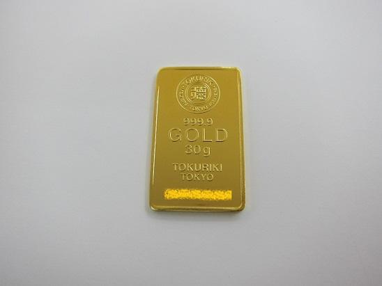 金 K24 買取 インゴット 999.9 徳力 30gスモールバー 24金価格
