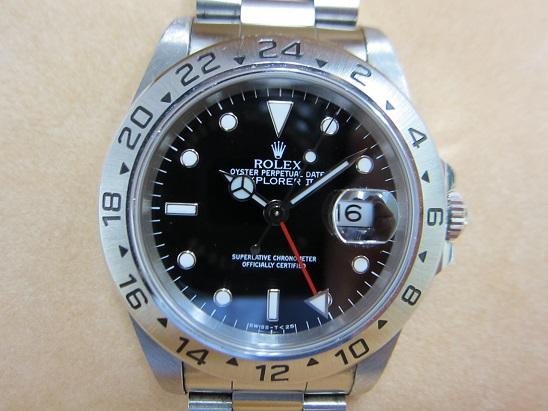 ロレックス 買取 エクスプローラーⅡ 16570 黒 1994年製 査定額
