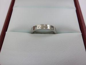 カルティエ 買取 Cドゥ エングレーブドリング 2Pダイヤ 結婚指輪