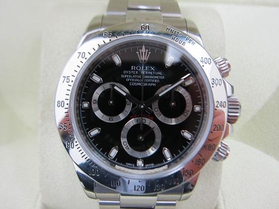 ロレックス 買取 116520 先代デイトナ 黒 APHダイアル 2010年