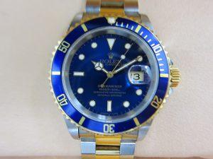 ロレックス 買取 サブマリーナコンビ 16613 旧型 青サブ 1993年