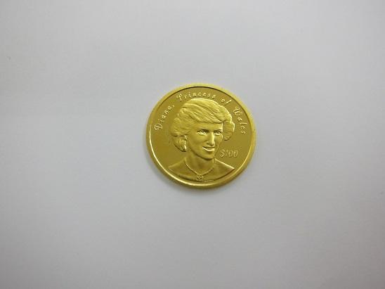 金 買取 NIUE ニウエ ダイアナ妃 K24金貨 6.2g 純金コイン 査定