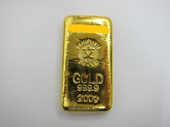 金 買取 K24 999.9 石福 ゴールドバー200g 金価格7,000円超え