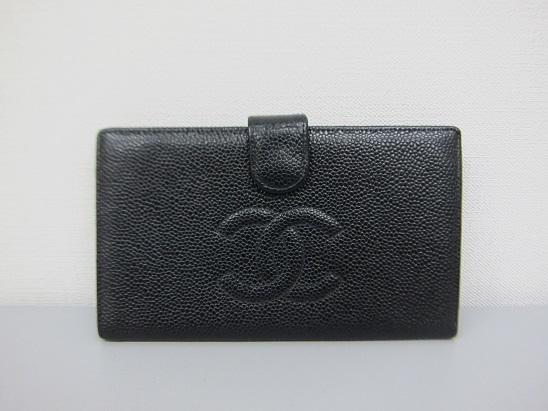 シャネル 買取 がま口財布 キャビアスキン 2002年製 ヴィンテージ