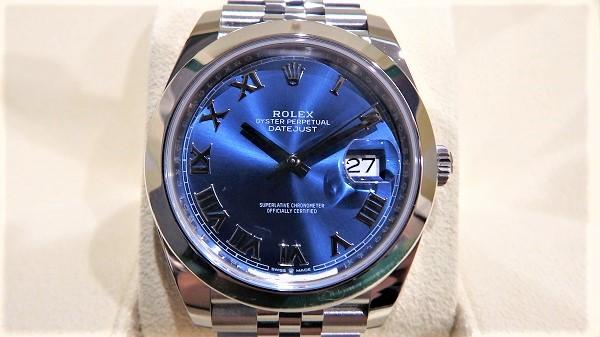 ロレックス 126300  デイトジャスト41 ブルーダイアル 買取