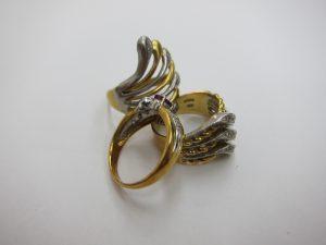 金k18プラチナpt900 コンビリング 貴金属 ジュエリー 買取