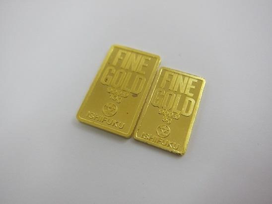金 買取 石福 ISHIFUKU コインバー インゴット 10g 5g 金地金