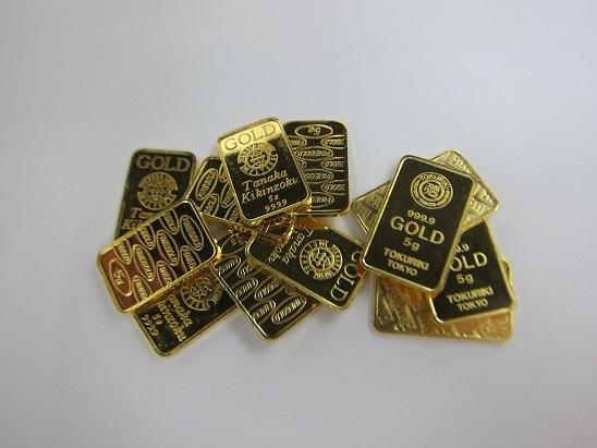 金 買取 K24 インゴット 田中貴金属 徳力 5gスモールバー 金地金