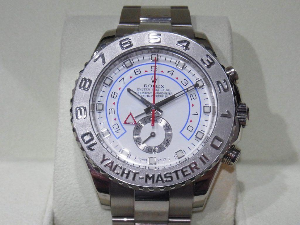 ロレックス 買取 ヨットマスターⅡ WG/PT 116689 銀針 高額査定