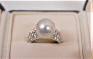 プラチナPt900 パール12mm ダイヤモンド1.51ct リング 買取