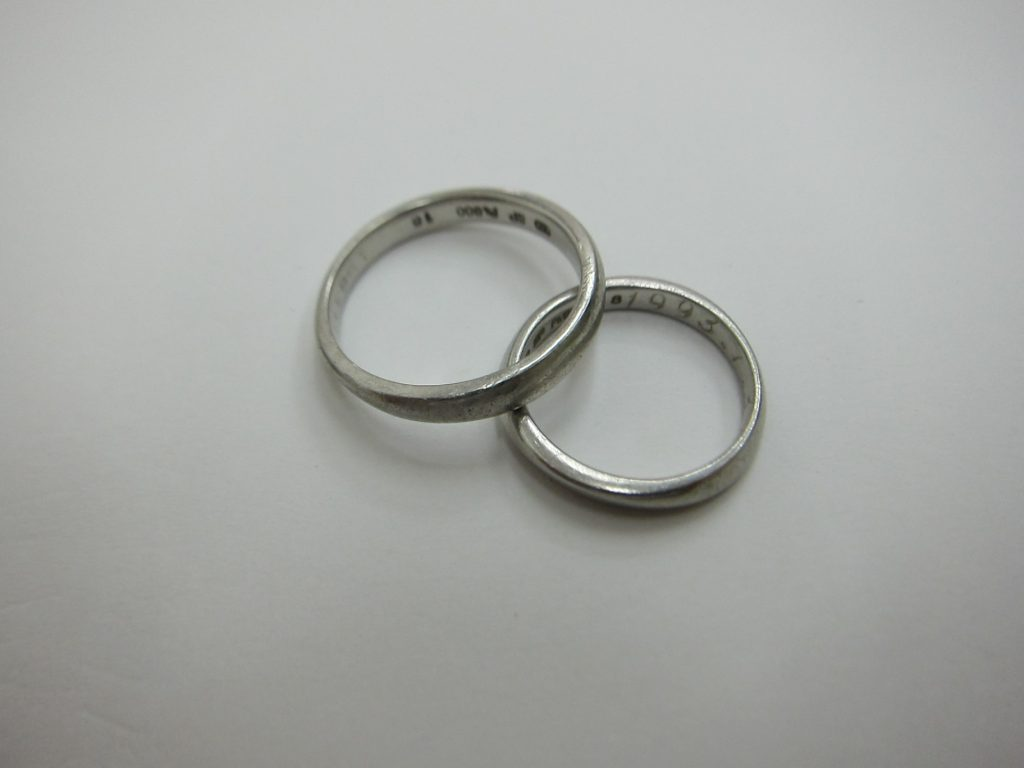 pt900 結婚 プラチナ リング 7.21g マリッジリング 買取