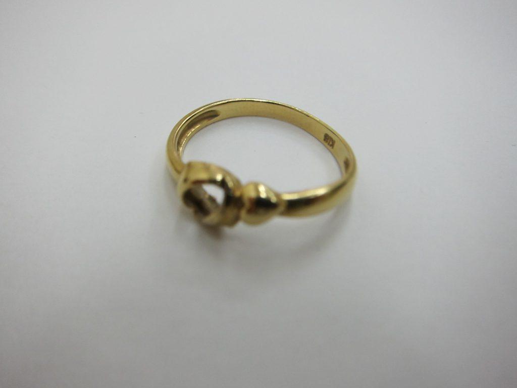 石が取れて変形したk18金リング 貴金属 ジュエリー 買取