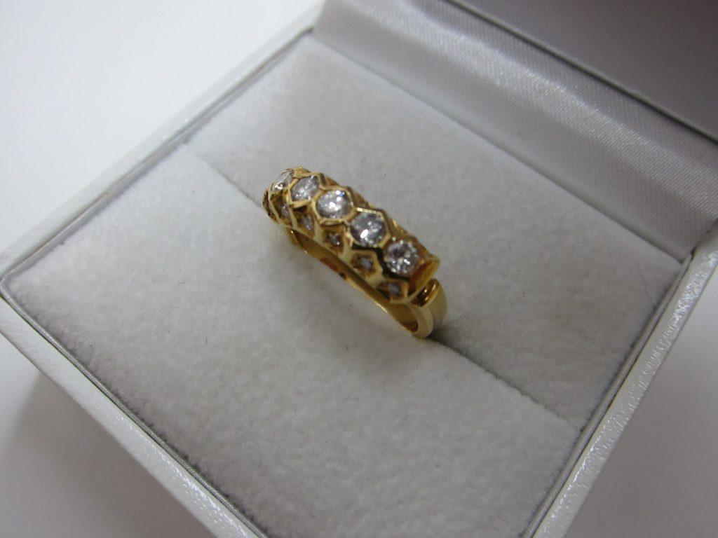 ダイヤモンドファッションリング k18金 買取