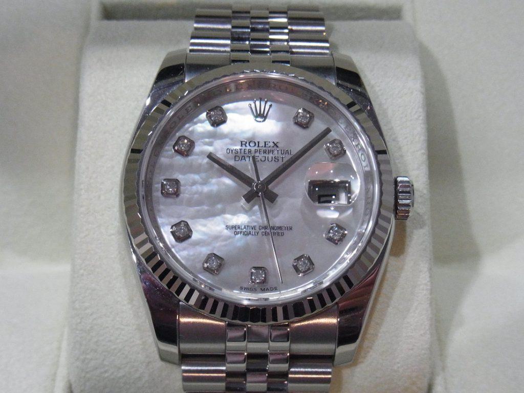 ロレックス 買取 旧型デイトジャスト36 シェルダイヤ 116234NG