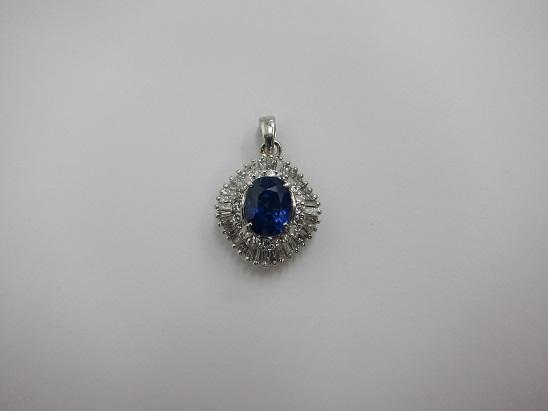 宝石 買取 サファイア1.9ct メレダイヤ デザイン古めのジュエリー
