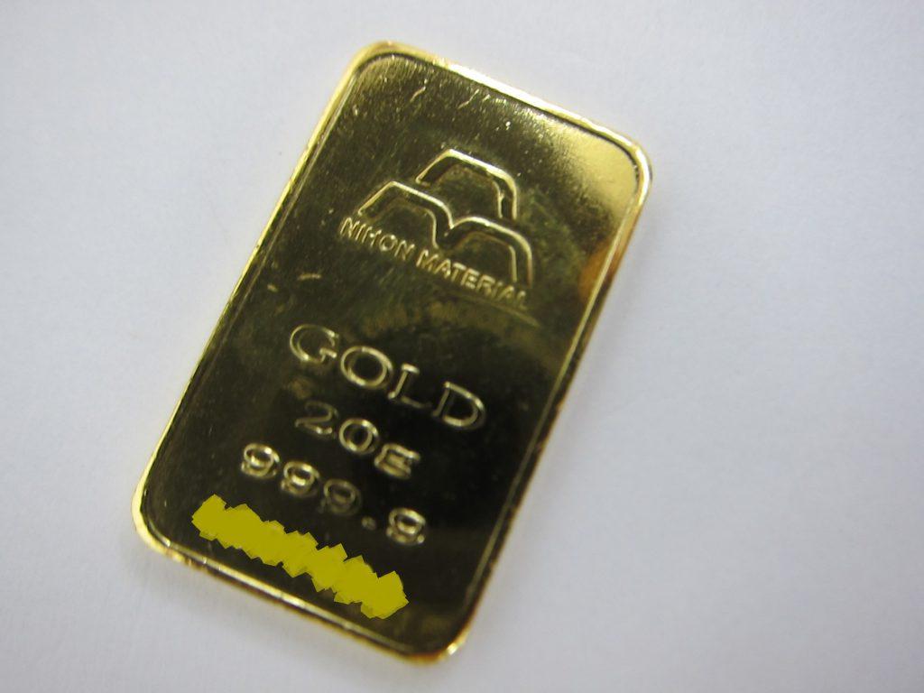 日本マテリアル 純金インゴットk24金20g 買取