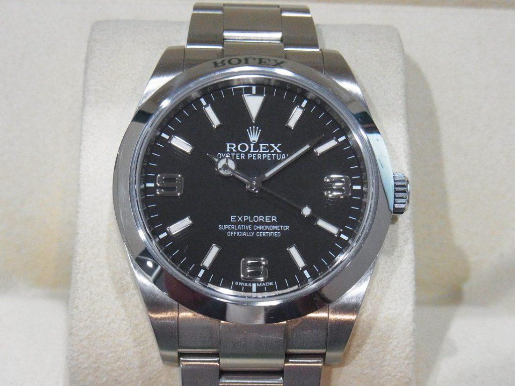 ロレックス 買取 エクスプローラー 214270 ブラックアウト 鏡面