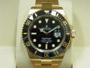 ロレックス 買取 126618LN サブマリーナー イエローゴールド 黒