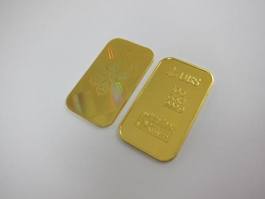 金 買取 インゴット10g×2 UBS 純金 ゴールドバー 金地金 999.9