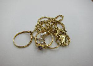 K18金 ネックレス リング 断捨離 遺品整理 貴金属 買取