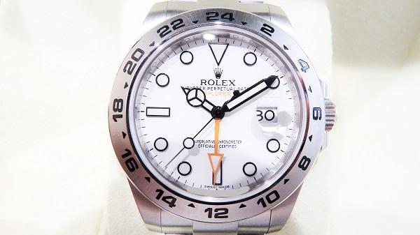 ロレックス 買取 エクスプローラーⅡ 216570 ホワイト文字盤 査定